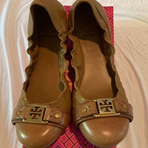 Brown Tory Burch Flats 8.5